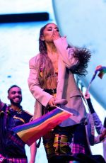 Ariana Grande Performing on the final night of Lollapalooza in Chicago