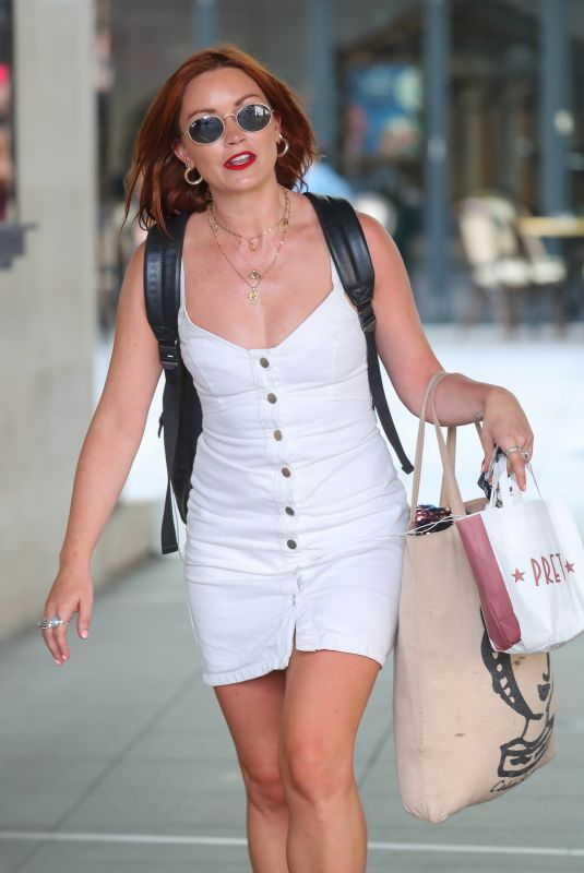 Arielle Free Arrives at the BBC to present her show on Radio 1
