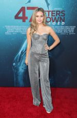 Brec Bassinger At 47 Meters Down: Uncaged Premiere in LA
