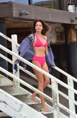 Brooke Burke Getting ready to tape another piece for her BrookeBurkeBody app at the beach in Malibu