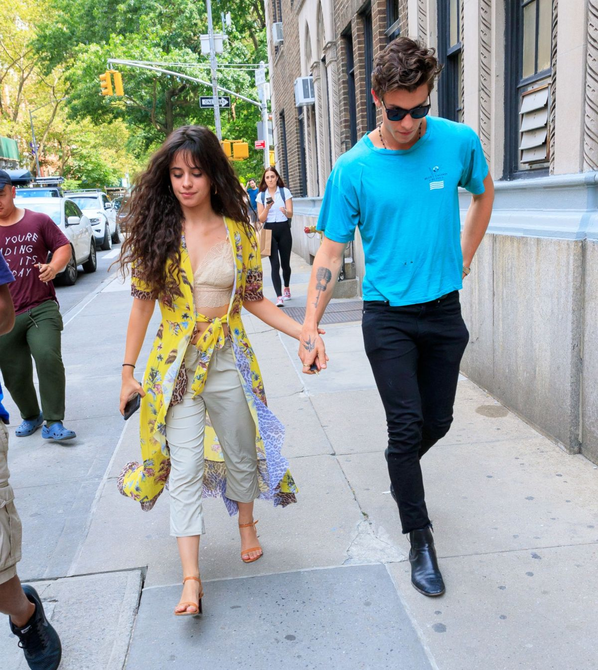 New York New York City: Camila Cabello & Shawn Mendes Seen Out And About In