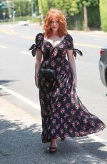 Christina Hendricks Attends the InStyle Day of Indulgence party in Brentwood