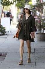 Crystal Reed In Mini Dress in Los Angeles