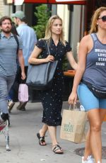 Dianna Agron Walking on the busy streets of New York