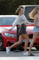 Doutzen Kroes and Candice Swanepoel leaving Ushuaia Hotel in Ibiza