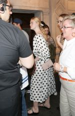 Elle Fanning Heading to the press night performance of