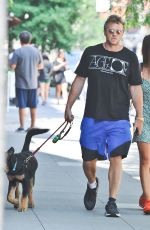 Emily Ratajkowski and husband Sebastian Bear-McClard are spotted out with their pup Colombo in NY