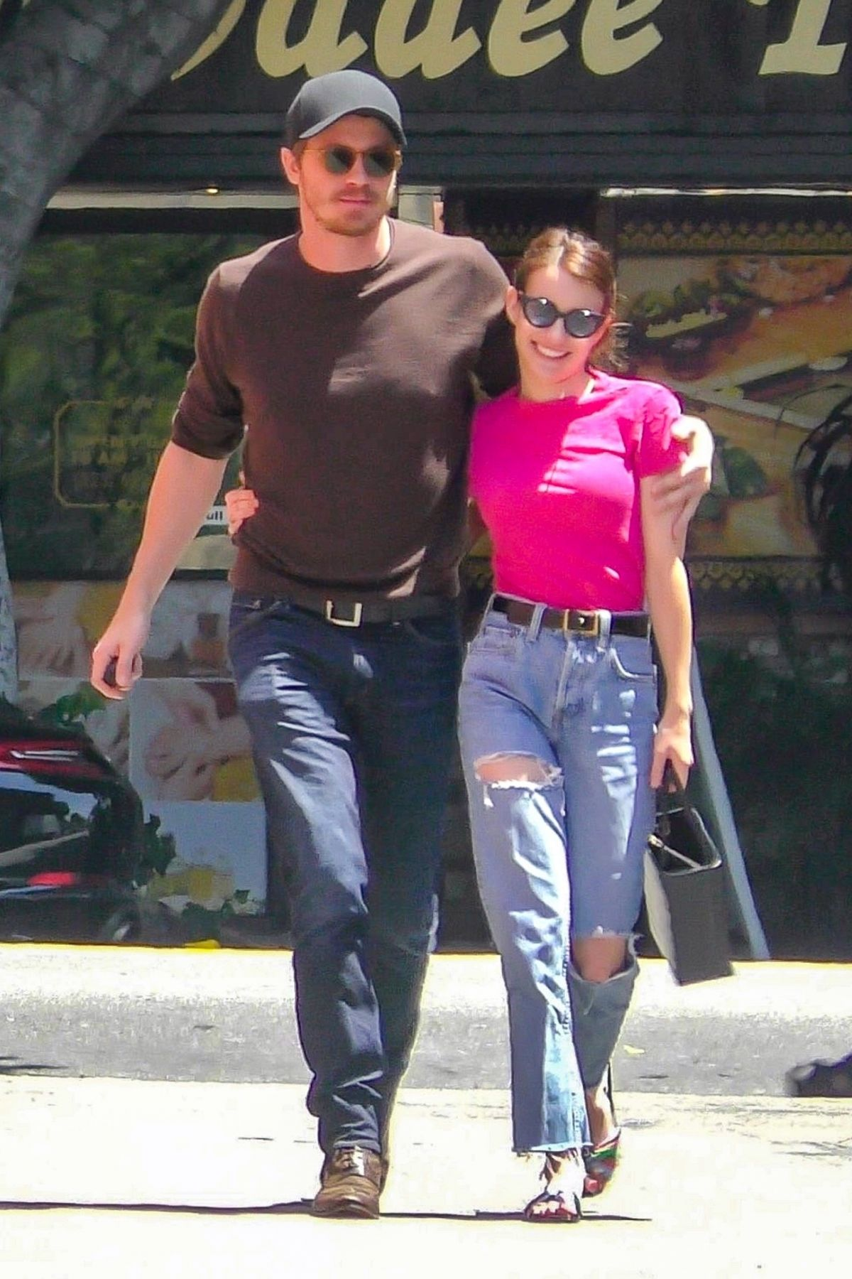 Emma Roberts and Garrett Hedlund engage in risque PDA as ...
