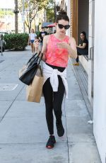 Emma Roberts Shops at James Perse in Beverly Hills