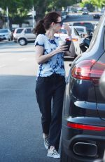 Emma Roberts Stops for coffee in LA