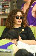 Emmy Rossum Gets her nails done with her husband in Beverly Hills