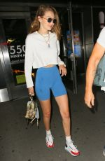 Gigi Hadid Spotted leaving Frams Bowling in New York