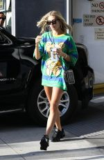 Hailey Bieber Dress up in colorful outfits for an afternoon outing in Beverly Hills