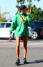 Hailey Bieber Going to the gym in West Hollywood