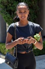 Jasmine Tookes Leaving the Dog Pound Gym in West Hollywood