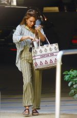 Jessica Alba Arriving at her office in LA