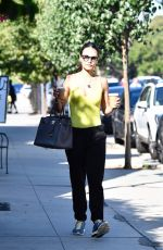 Jordana Brewster Out for coffee in Brentwood