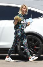 Julianne Hough Arriving at a studio in Los Angeles