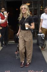 Kaley Cuoco Checks out of the Bowery Hotel, NYC