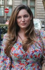 Kelly Brook Arrives at Global to present her Heart Drivetime show in London