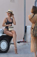 Kimberley Garner Is seen on the streets of St. Tropez