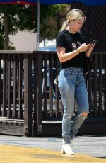 Kristina Kane Takes a call while out and about in Studio City
