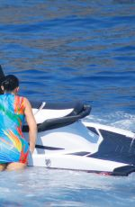 Kylie Jenner and Travis Scott have fun on a jet ski in Positano, Italy