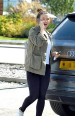 Kym Marsh Spotted on a stroll around Mediacity in Manchester