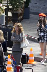 Lily Collins Filming