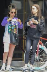 Lily Collins Leaving Dogpound Gym in LA