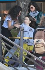 Lily Collins On set of