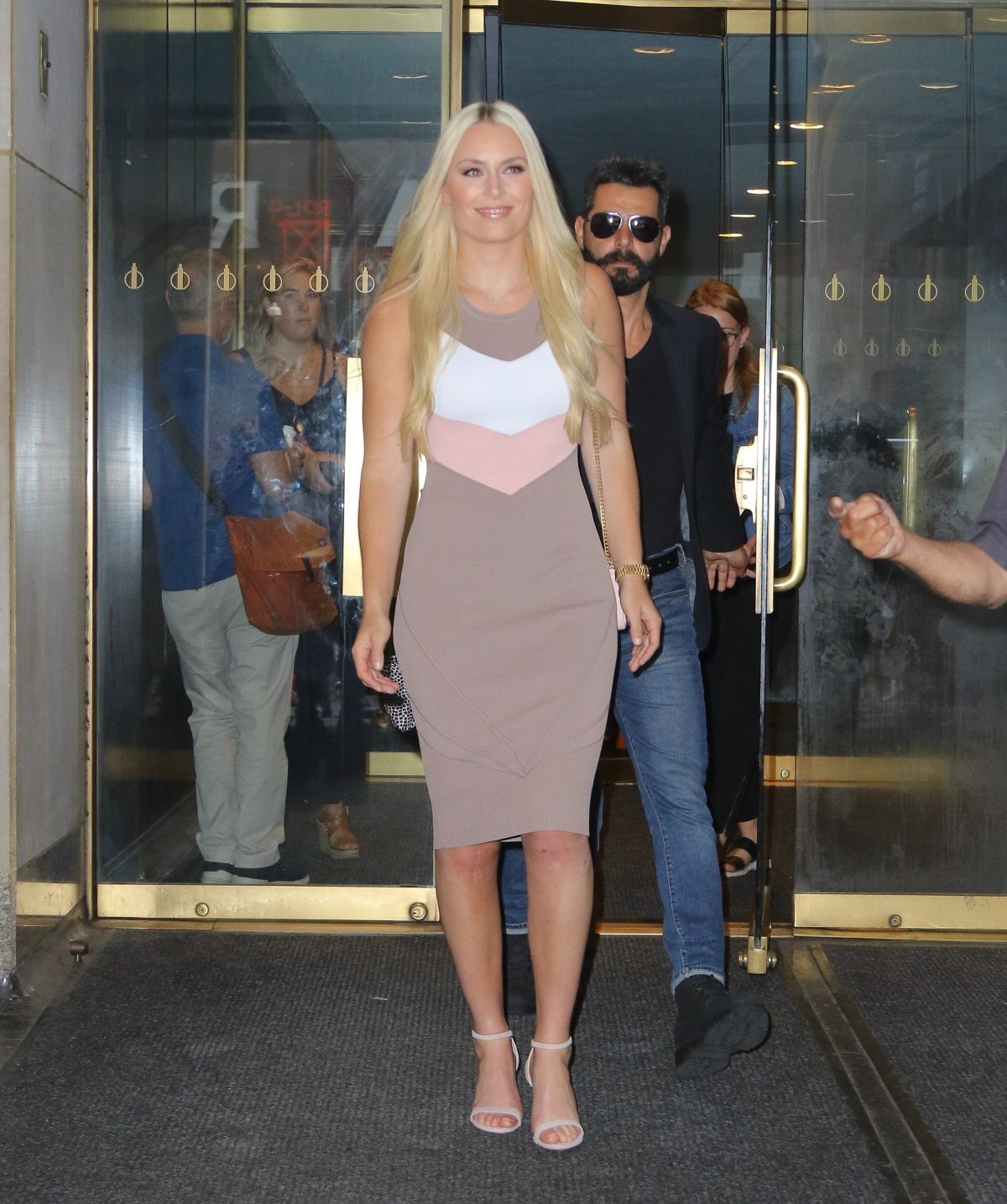 New York New York City: Lindsey Vonn Leaves The Today Show In New York City