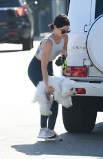 Lucy Hale Drops off her dog at a doggie daycare in Studio City