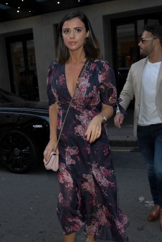 Lucy Mecklenburgh Leaving there London Hotel