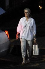 "Meryl Streep Leaving the set of ""Big Little Lies"" after a long day of filming in Downtown Los Angeles"