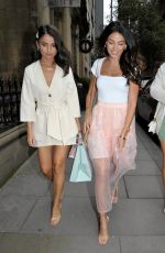 Michelle Keegan At Rosso Restaurant in Manchester
