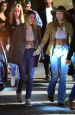 Miley Cyrus & Kaitlynn Carter Arriving at the Up and Down Nightclub in New York City