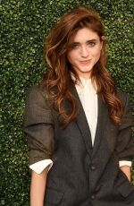 Natalia Dyer At USTA 19th Annual Opening Night Gala Blue Carpet in NYC