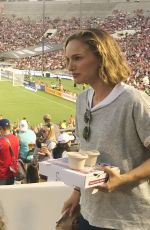 Natalie Portman At an exhibition match between USA and Ireland for equal pay for women in Pasadena