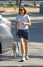 Natalie Portman Takes her dog for walk in Los Angeles