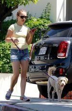 Natalie Portman Walking her dog in Los Angeles