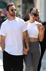 Nikki Bella Out for a lunch date with her boyfriend in Studio City