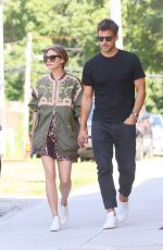 Olivia Palermo and Johannes Huebl step out for an afternoon in Brooklyn