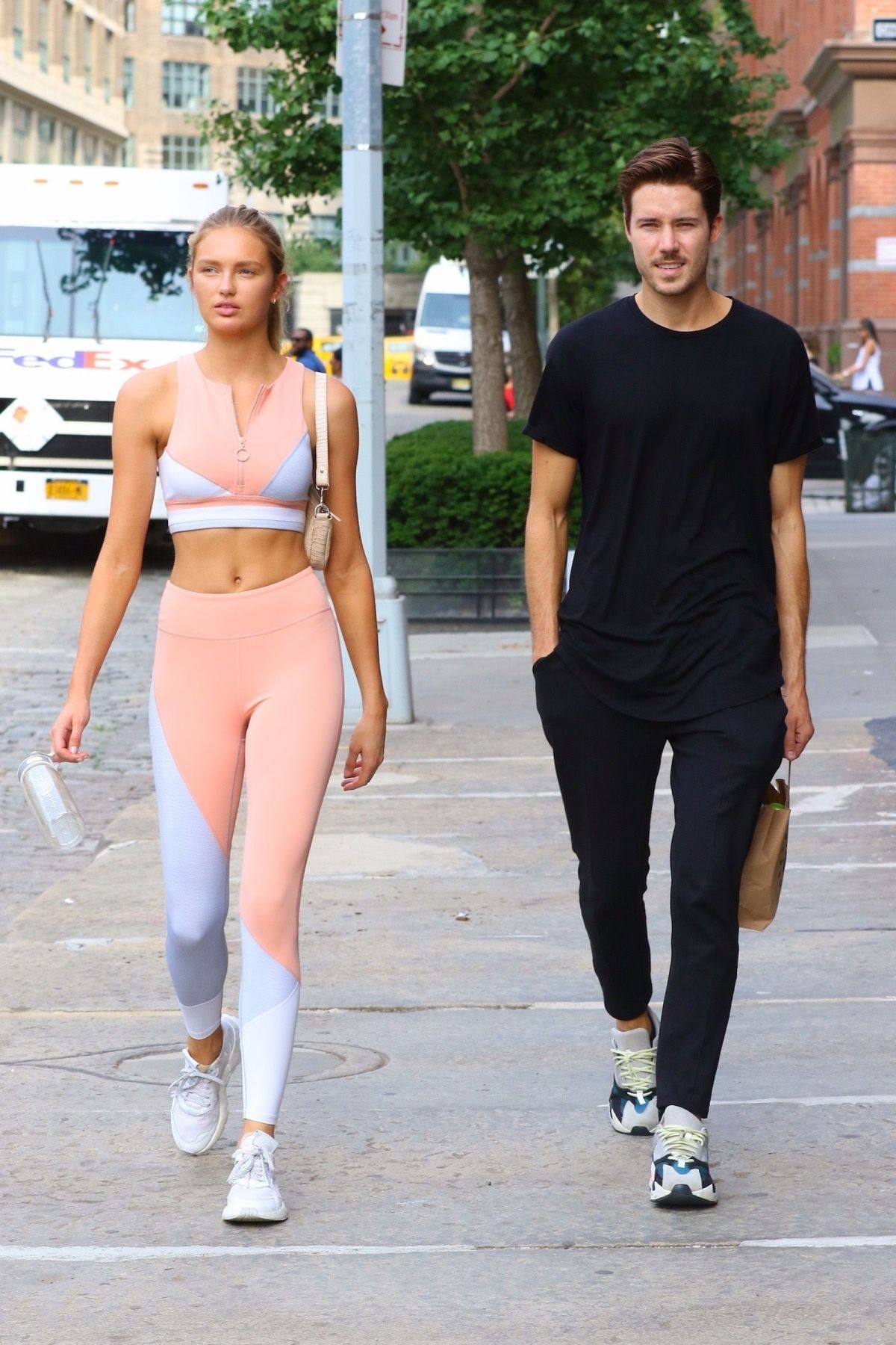 romee strijd leaving a gym in nyc