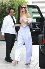 Rosie Huntington-Whiteley At a business lunch in Beverly Hills