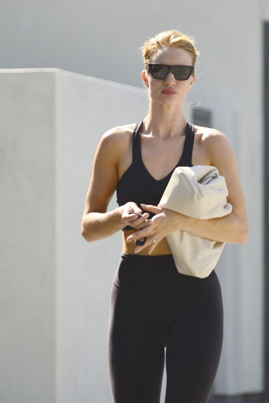 Rosie Huntington-Whiteley Leaving Pilates class in West Hollywood
