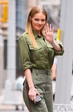 Samara Weaving Outside the Build studio in New York