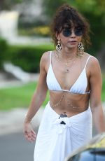 Sarah Hyland Leaving a party in a Bikini top in LA