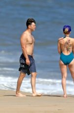 Scarlett Johansson At the beach in the Hamptons