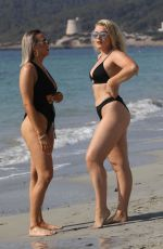 Tallia Storm and Clara Lonsdale On Holiday in Ibiza